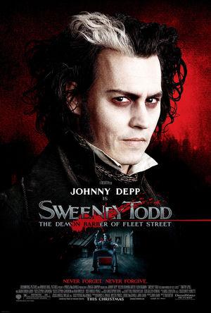 Póster de Sweeney Todd, el barbero diabólico de la calle Fleet