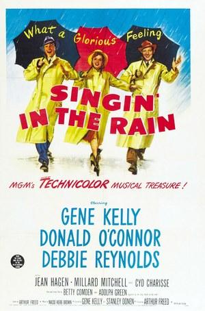 Póster de Cantando bajo la lluvia