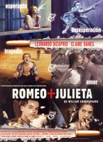 Póster de Romeo + Julieta de William Shakespeare