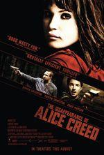 Póster de La desaparición de Alice Creed