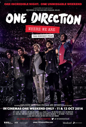 Póster de One Direction: Where We Are - La película del concierto