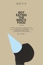 Cartel de Boy Eating the Bird's Food