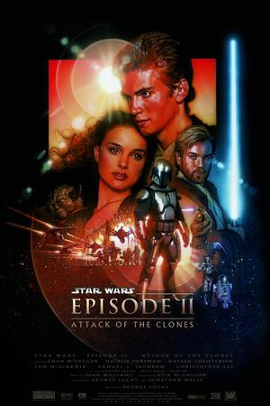 Póster de Star Wars: Episodio II - El ataque de los clones