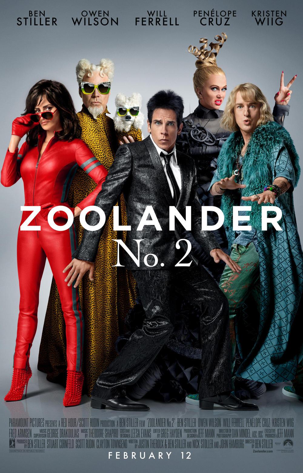 Póster de Zoolander No. 2