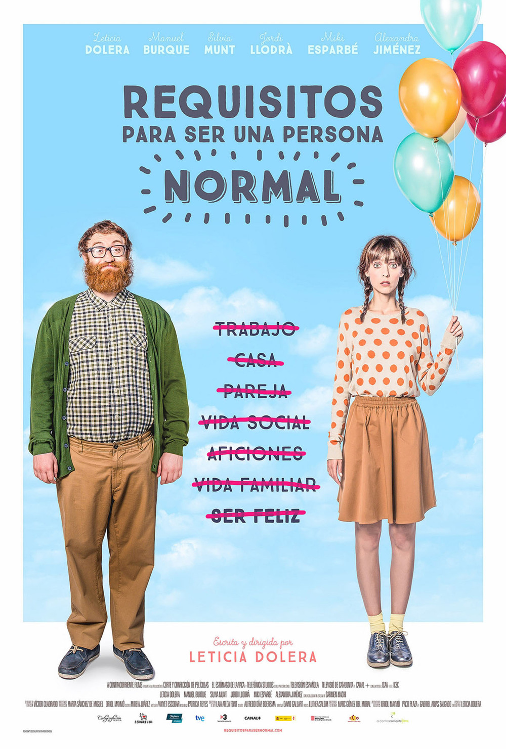 Póster de Requisitos para ser una persona normal