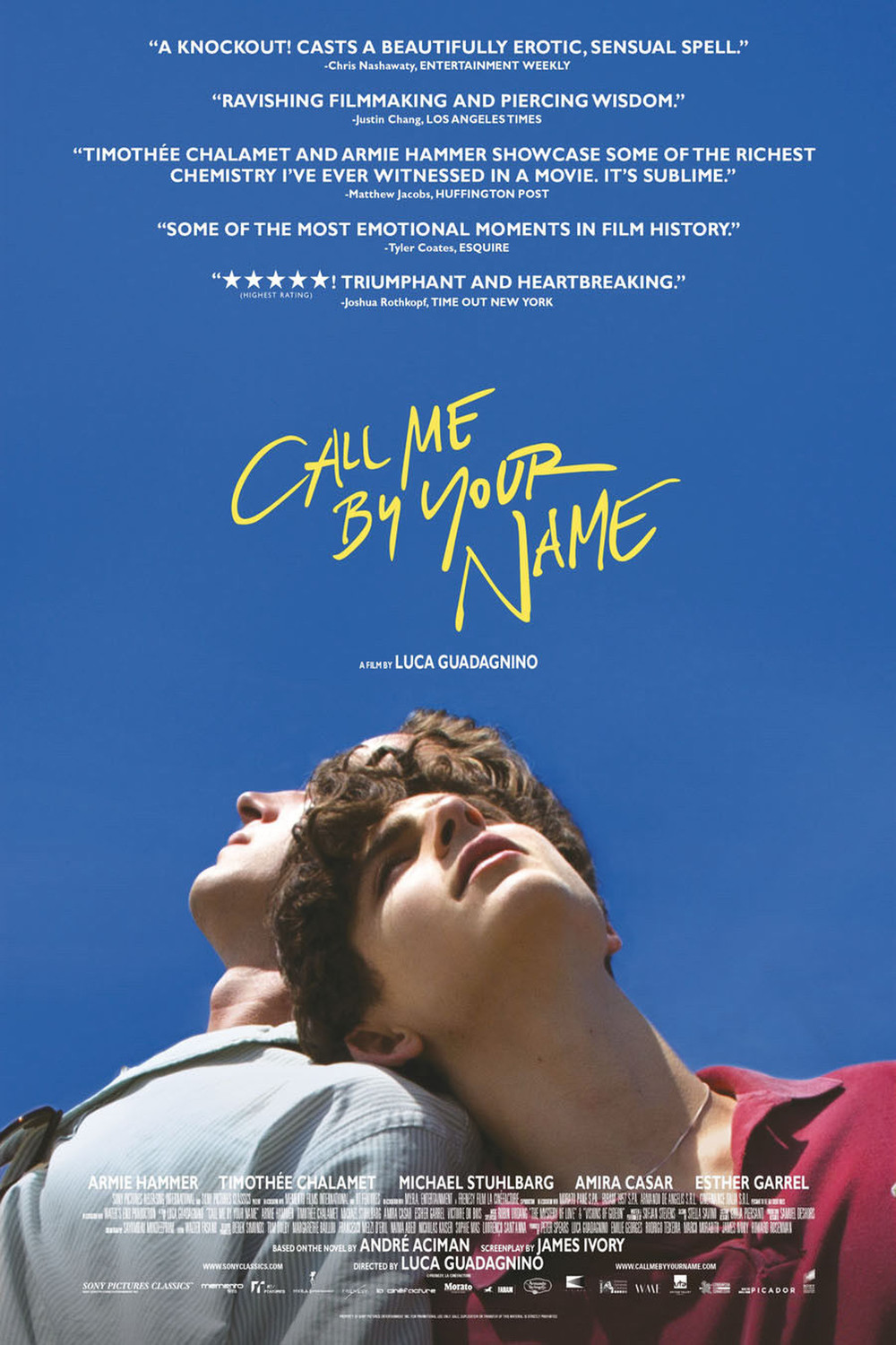 Póster de Call Me by Your Name
